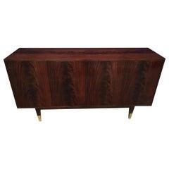 Custom Crotch Mahogany Midcentury Style Sideboard by Leighton Hall