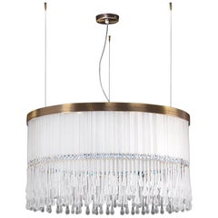 Custom Dancer Suspension Lamp in Grey Murano Glass by Multiforme