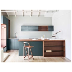 Custom Design Giacomo Moor Contemporary Kitchen in Wood and Marble / Mesin 01