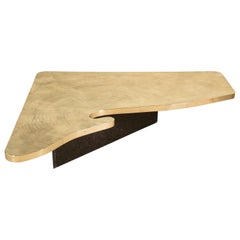 Custom Designed Etched Brass Coffee Table by Lova Creations