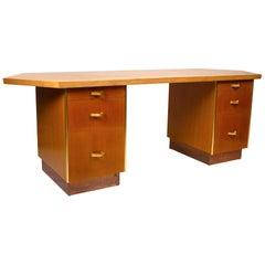 Custom Designed Frank Lloyd Wright Double Pedestal Desk for the Price Tower