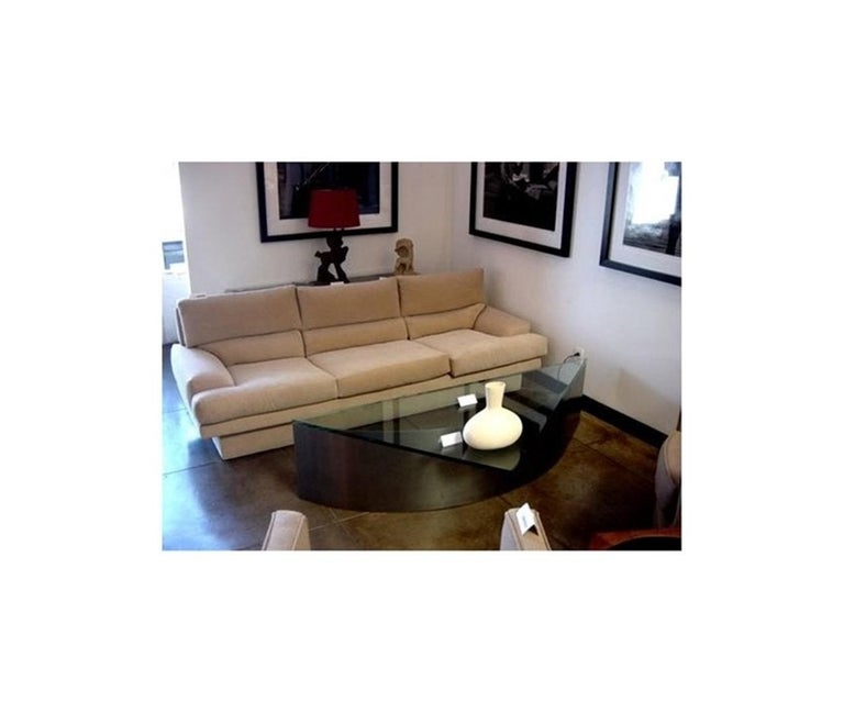 Custom Designed Steel and Glass Coffee Table For Sale 7