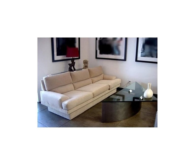 Custom Designed Steel and Glass Coffee Table For Sale 8