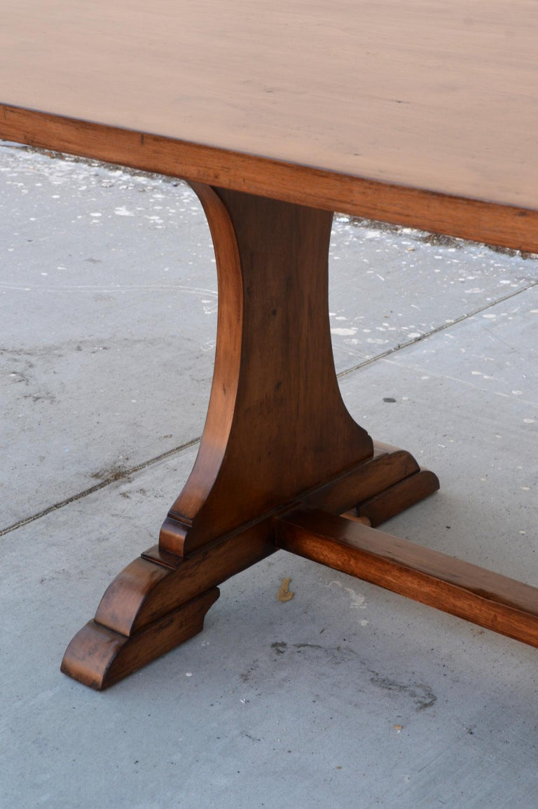 Custom Dining Table in Dry Aged Walnut with Extensions by Petersen Antiques For Sale 7