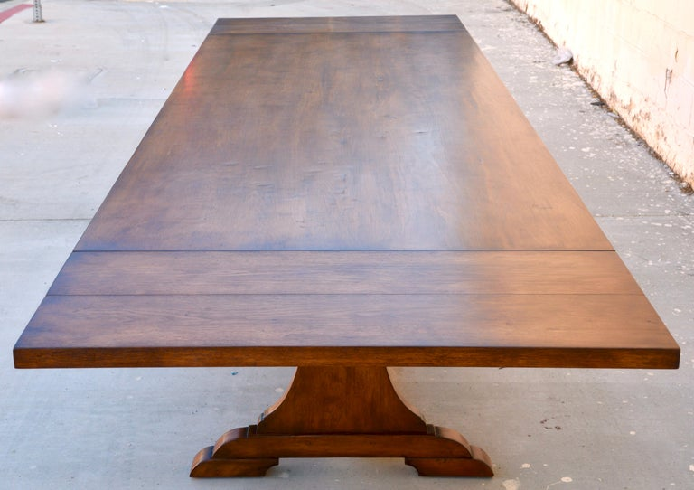 American Craftsman Custom Dining Table in Dry Aged Walnut with Extensions by Petersen Antiques For Sale