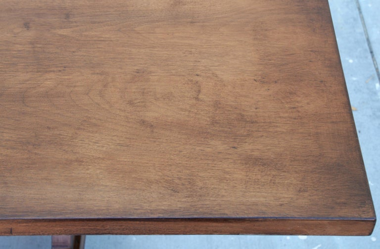 Contemporary Custom Dining Table in Dry Aged Walnut with Extensions by Petersen Antiques For Sale