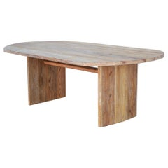 Custom Dining Table Made from Reclaimed Pine