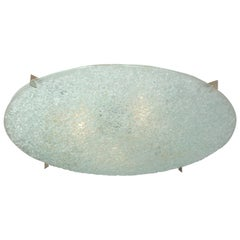 Dome Glass Flush Mount Light Fixture