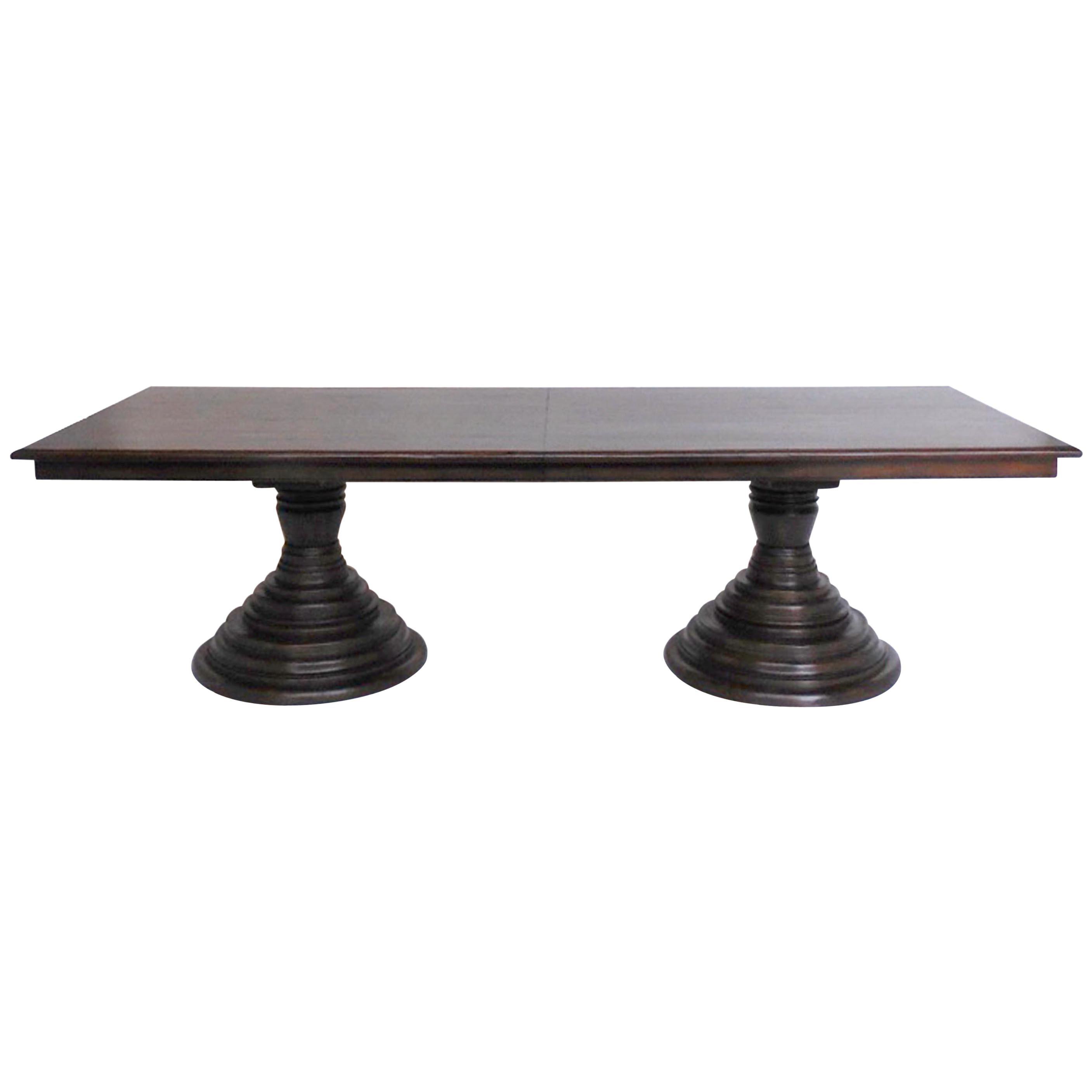 Custom Double Pedestal Dining Table