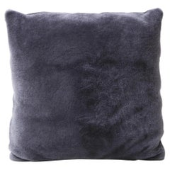 Custom Double Sided Merino Shearling Pillow in Purple Grey Color
