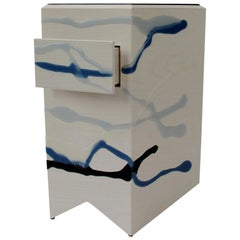 Custom Drip/Fold Nightstand, Ash & Resin, Pair Available