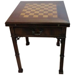 Chinese Chippendale Style Custom Made Games Chess Table
