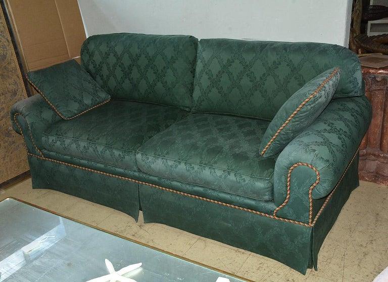 Modern Custom English Style Rolled Arm Sofa For Sale