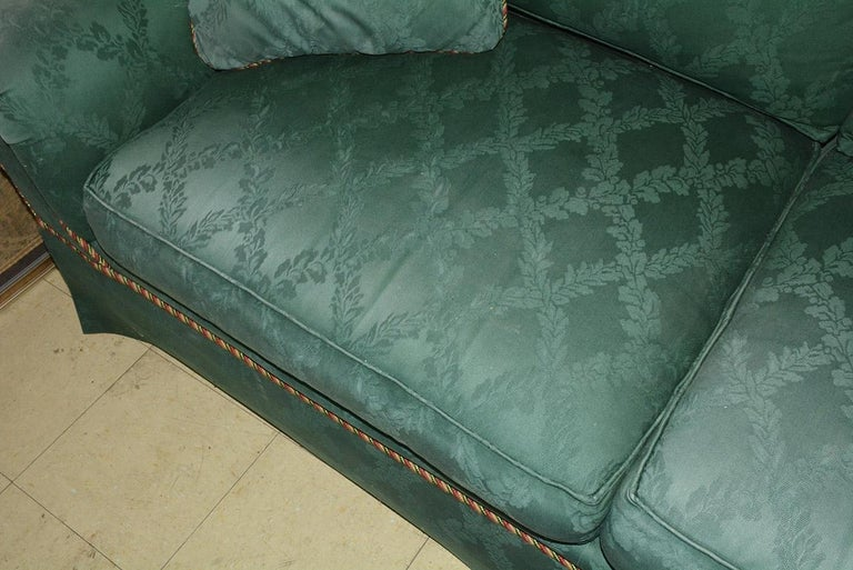 Custom English Style Rolled Arm Sofa In Good Condition For Sale In Great Barrington, MA