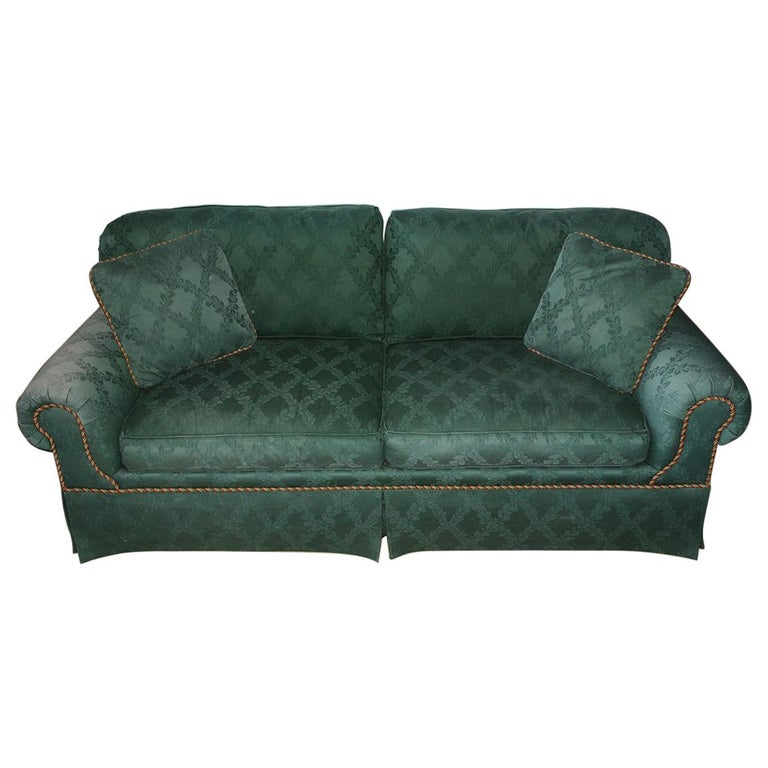 Custom English Style Rolled Arm Sofa For Sale