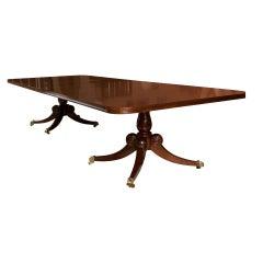 Custom, English, William IV Style Pedestal Dining Table