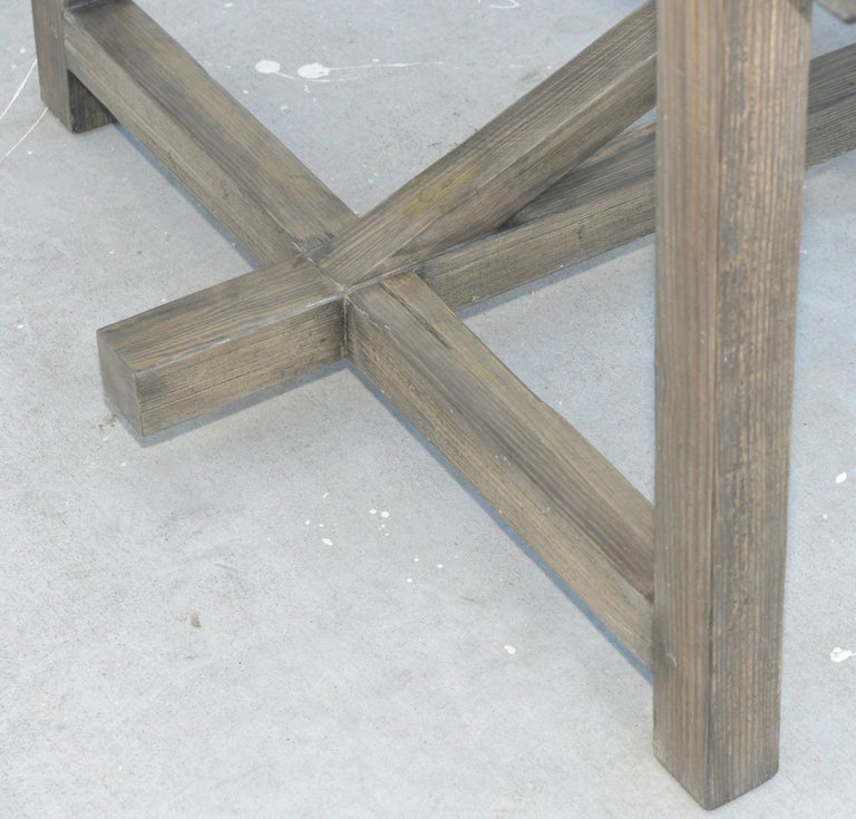 Custom Expandable Dining Table Made from Reclaimed Pine For Sale 4