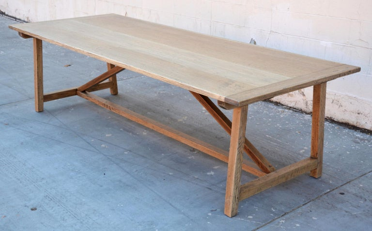 Custom Expandable Farm Table In Distressed Rift Sawn Oak
