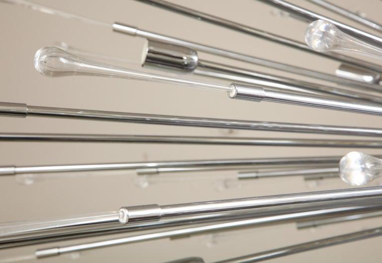 Custom Extra Large All Teardrop Sputnik Chandelier in Polished Chrome For Sale 7