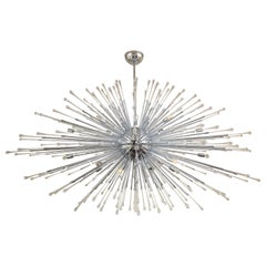Custom Extra Large All Teardrop Sputnik Chandelier in Polished Chrome