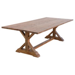 Custom Farm Table in Vintage Reclaimed Pine by Petersen Antiques
