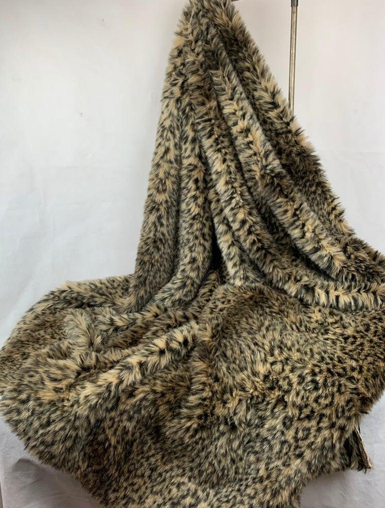 American Custom Faux Leopard Throw