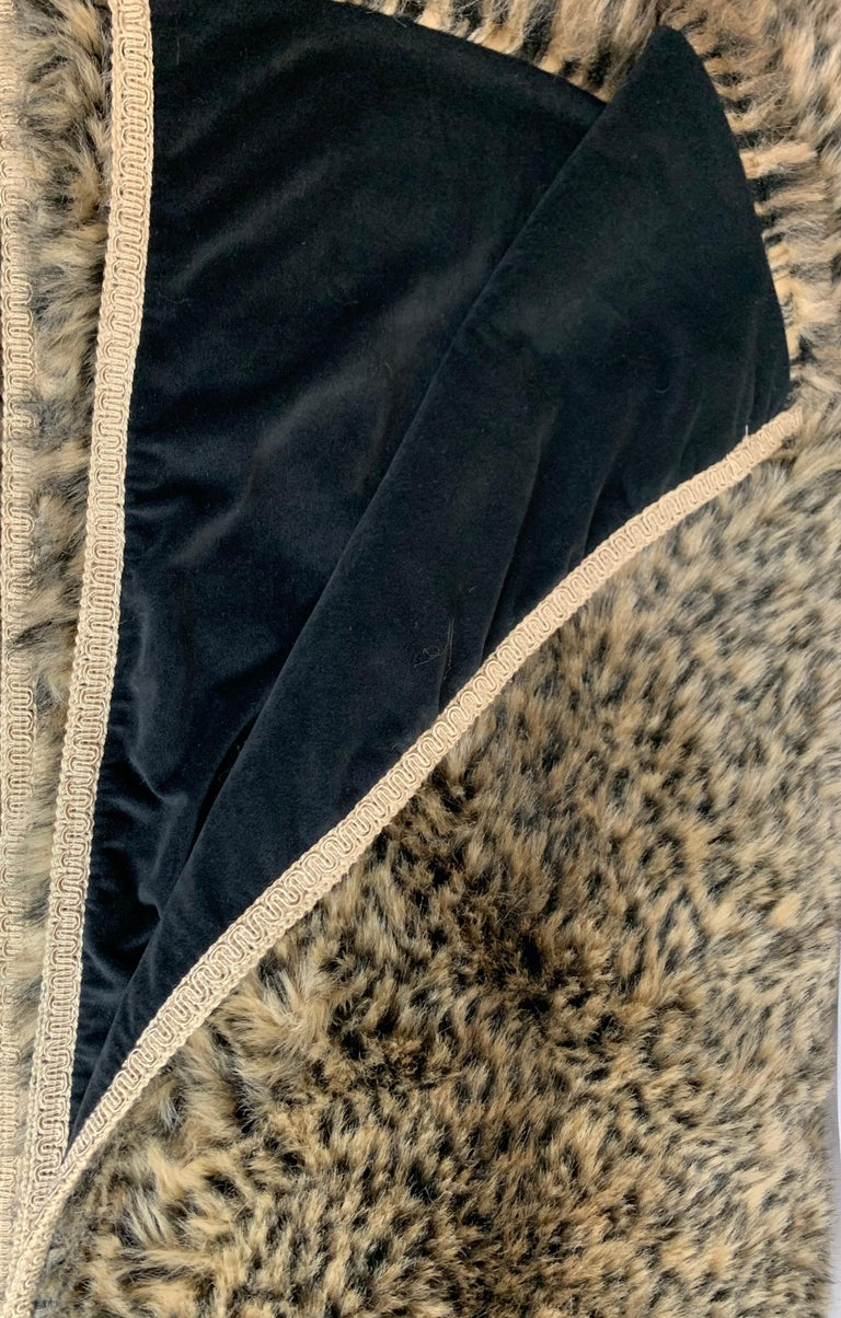 Hand-Crafted Custom Faux Leopard Throw