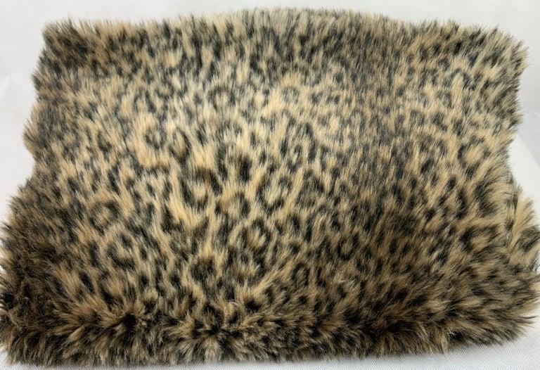 Custom Faux Leopard Throw In Good Condition In West Palm Beach, FL