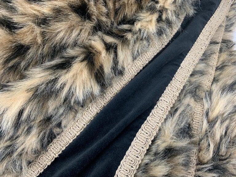 Contemporary Custom Faux Leopard Throw