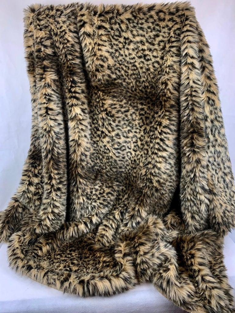 Textile Custom Faux Leopard Throw