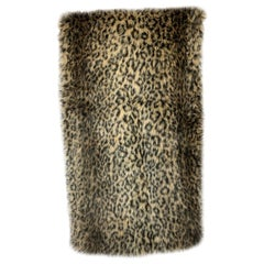 Custom Faux Leopard Throw