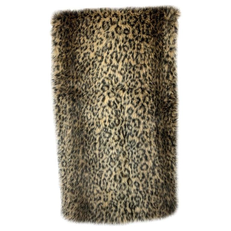 Custom Faux Leopard Throw