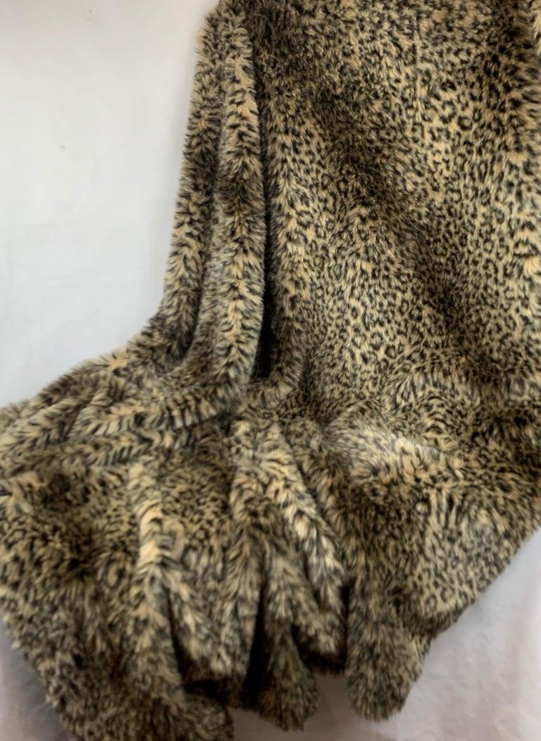 Modern Custom Faux Leopard Throw
