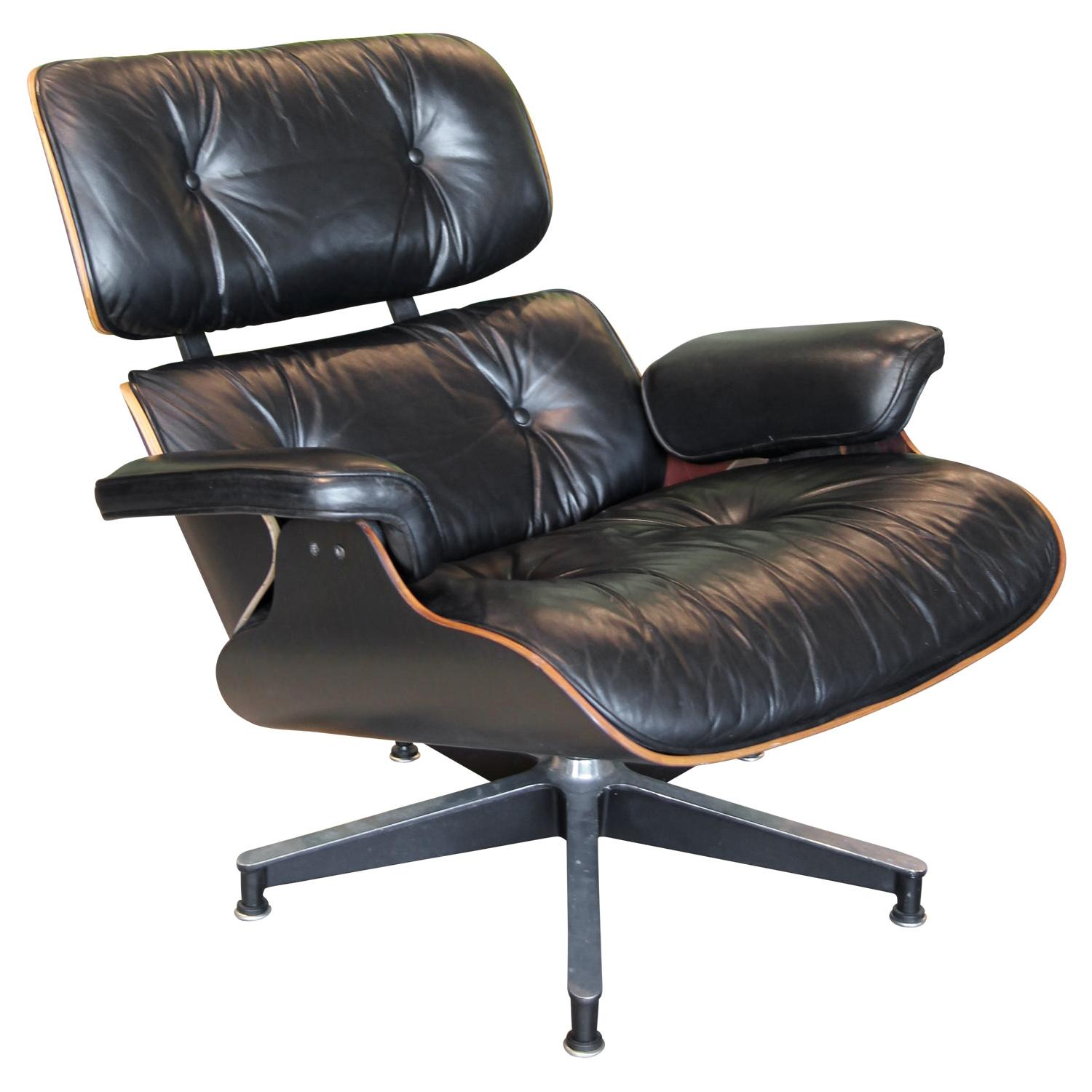 Custom Finished Black Stain Herman Miller Eames Lounge Chair 670