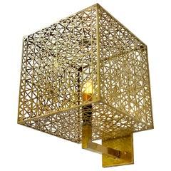 Custom Tetrahedral Cubic Fractal Sconce