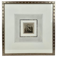 "L. Vanvitelli's Engraving of the Letter ""N""-Custom Framed & Matted, Italy, 1771"