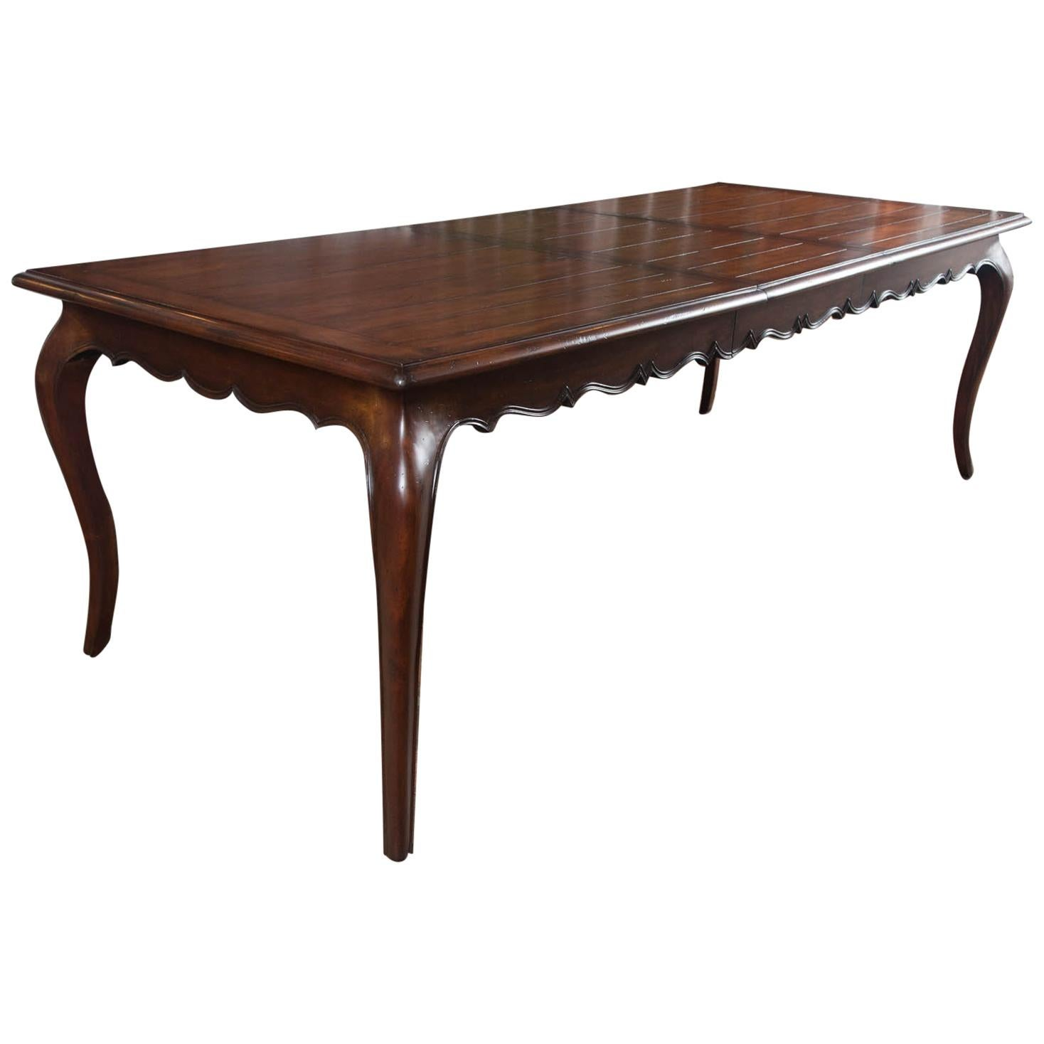 custom french cherry dining table with leaf for sale at 1stdibs rh 1stdibs com Round Dining Table Round Dining Tables with Leaves