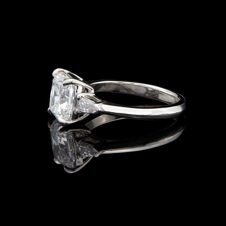 Cushion Cut Custom GIA 3.01 Carat, F/VS1 Cushion Diamond Ring For Sale