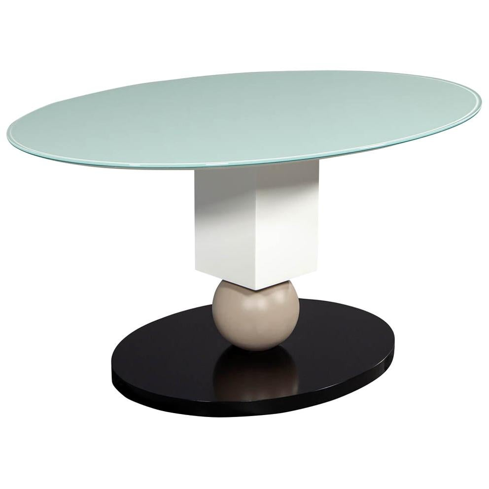 Custom Glass Top Modern Dining Table by Carrocel