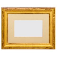Custom Gold Leaf Carved Frame with Glass
