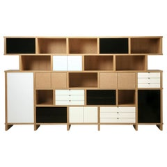 Custom Hand-Crafter Bookcase Inspired by Charlotte Perriand and Built to Order