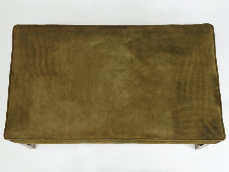 Mid-Century Modern Custom Handmade in Chicago Bronze Bench or Ottoman in Any Dimension or Finish For Sale