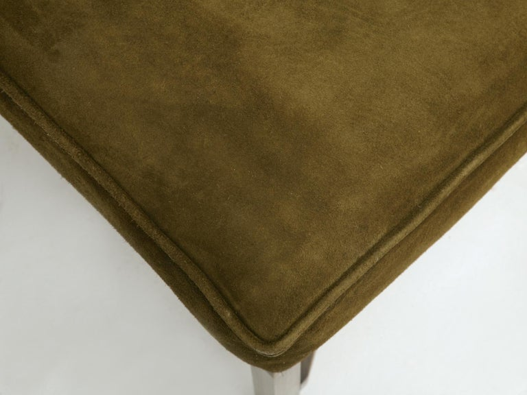 Hand-Crafted Custom Handmade in Chicago Bronze Bench or Ottoman in Any Dimension or Finish For Sale
