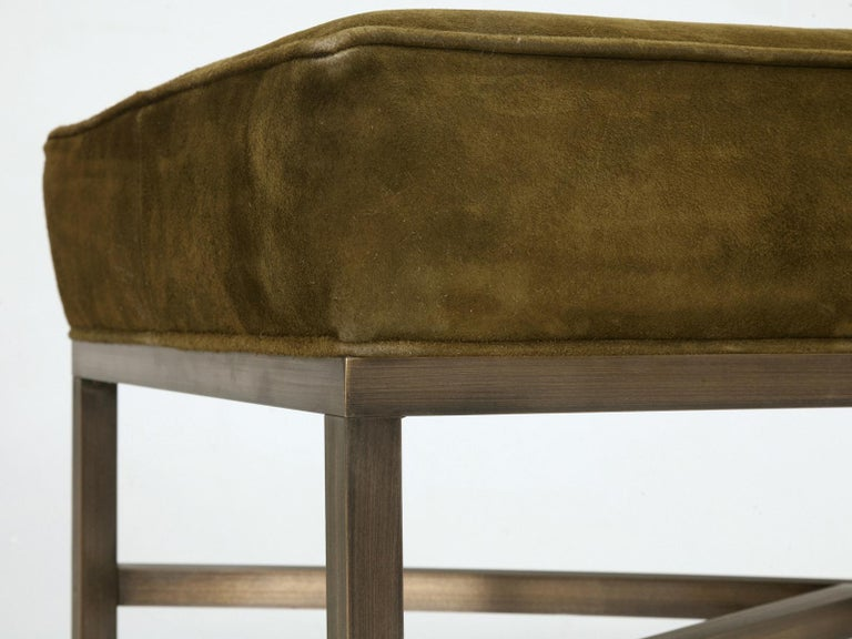 Custom Handmade in Chicago Bronze Bench or Ottoman in Any Dimension or Finish In New Condition For Sale In Chicago, IL