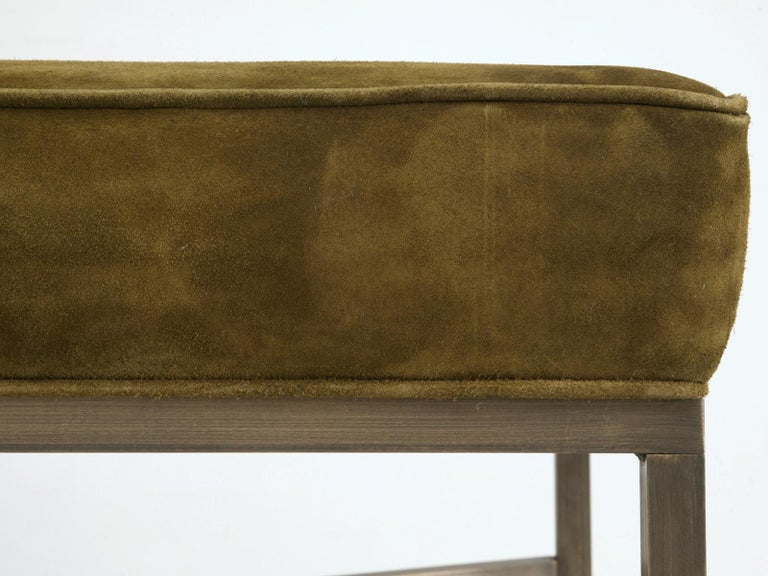 Contemporary Custom Handmade in Chicago Bronze Bench or Ottoman in Any Dimension or Finish For Sale