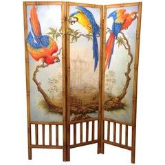 Custom Hand Painted Chinoiserie Screen
