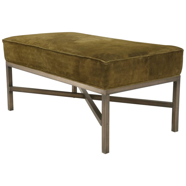 Custom Handmade in Chicago Bronze Bench or Ottoman in Any Dimension or Finish For Sale
