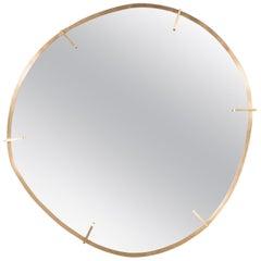 Custom Handmade Organic Modernist Mirror in Burnished Brass