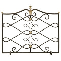 Custom Handmade Steel and Brass Fireplace Screen in any Dimension or Finish