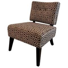 Custom Hollywood Regency Style Slipper Chair